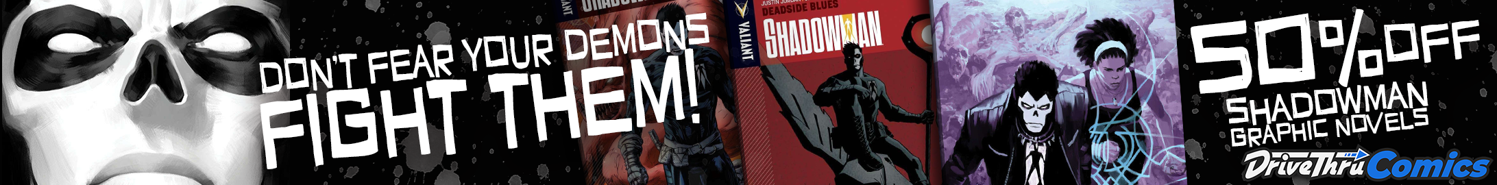 Shadowman graphic novels 50% off at @ DriveThruComics.com