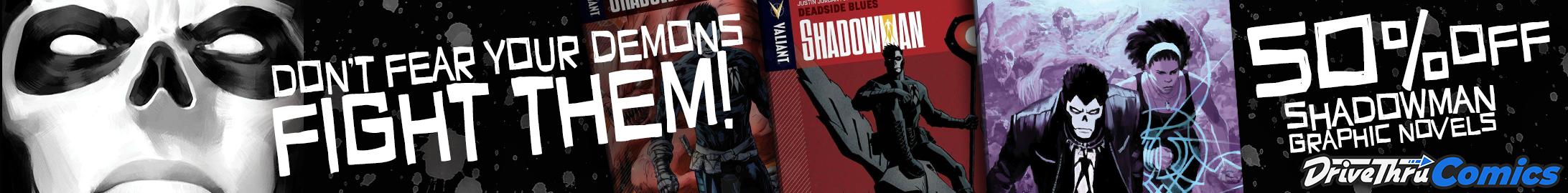 Shadowman graphic novels 50% off at @ DriveThruComics