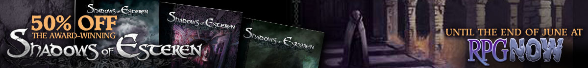 Shadows of Esteren Sale @ RPGNow.com