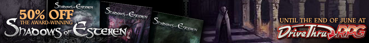 Shadows of Esteren Sale @ DriveThruRPG.com