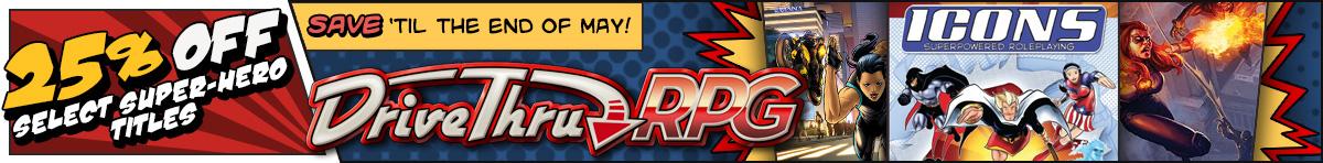 25% off Select Super-hero Titles @ DriveThruRPG