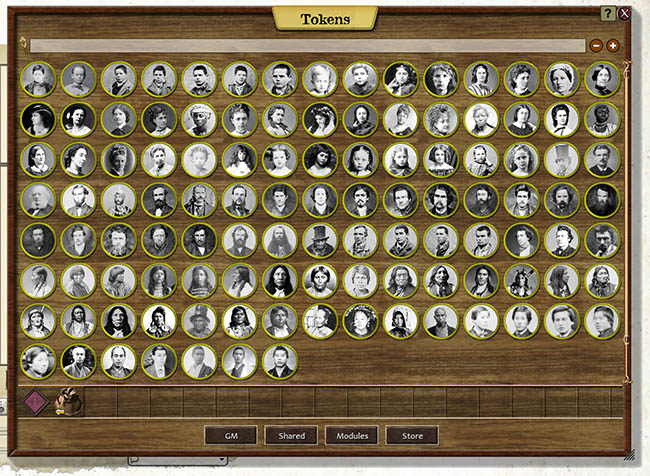 Tokens as they appear in Fantasy Grounds