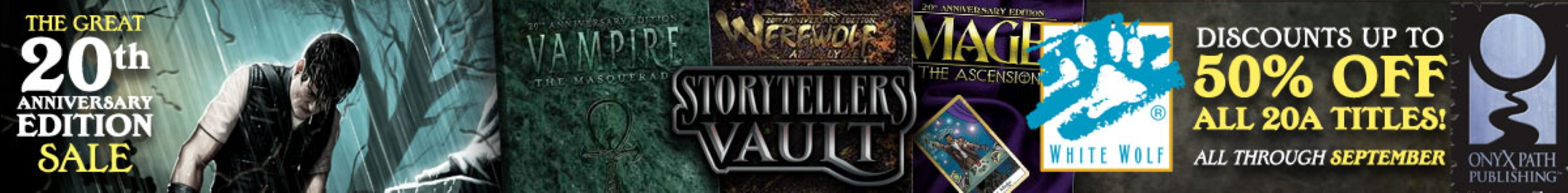 The Great 20th Anniversary sale @ Storytellers Vault