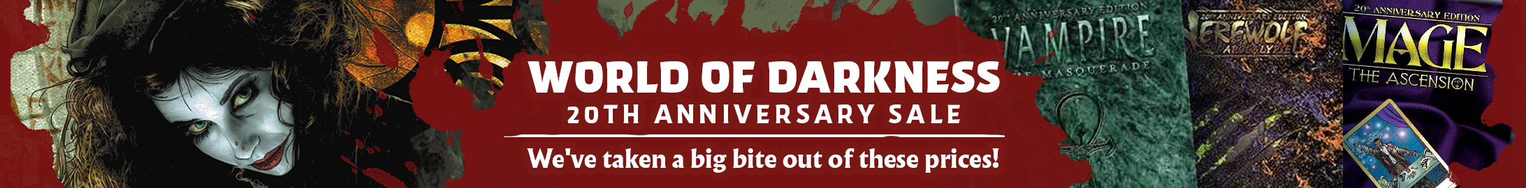 The World of Darkness 20th Anniversary Edition sale @ DriveThruRPG.com