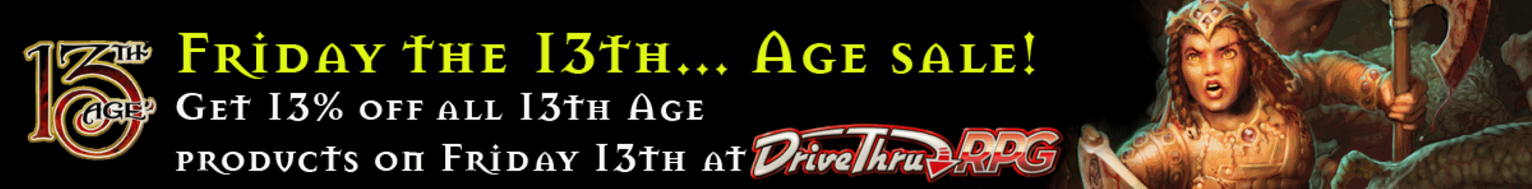 Friday the 13th... Age sale @ DriveThruRPG.com