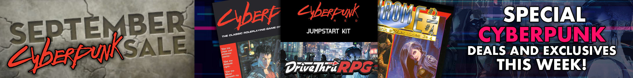 Terrific deals on Cyberpunk, all editions!