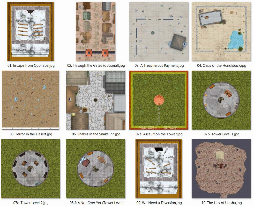Thumbnails of all 12 maps