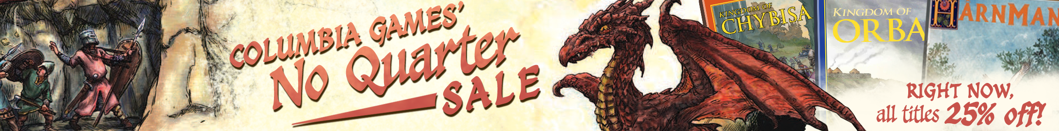 "Columbia Games ""No Quarter"" sale @ DriveThruRPG.com"
