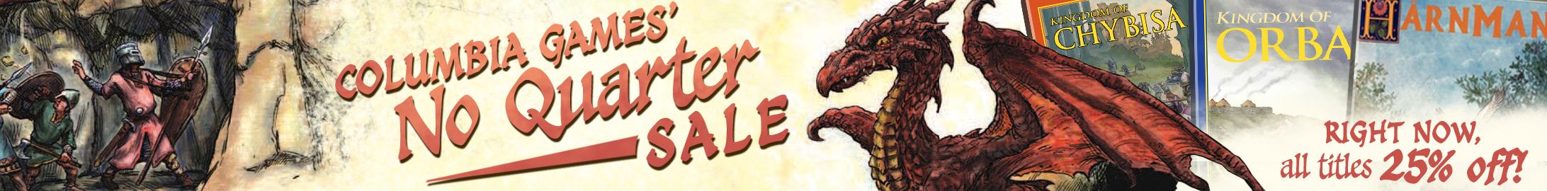 "Columbia Games ""No Quarter"" sale @ DriveThruRPG.com"