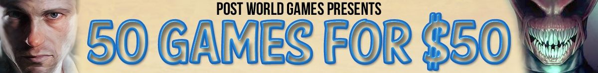 Post World Games Presents 50 Games for $50 at RPGNow