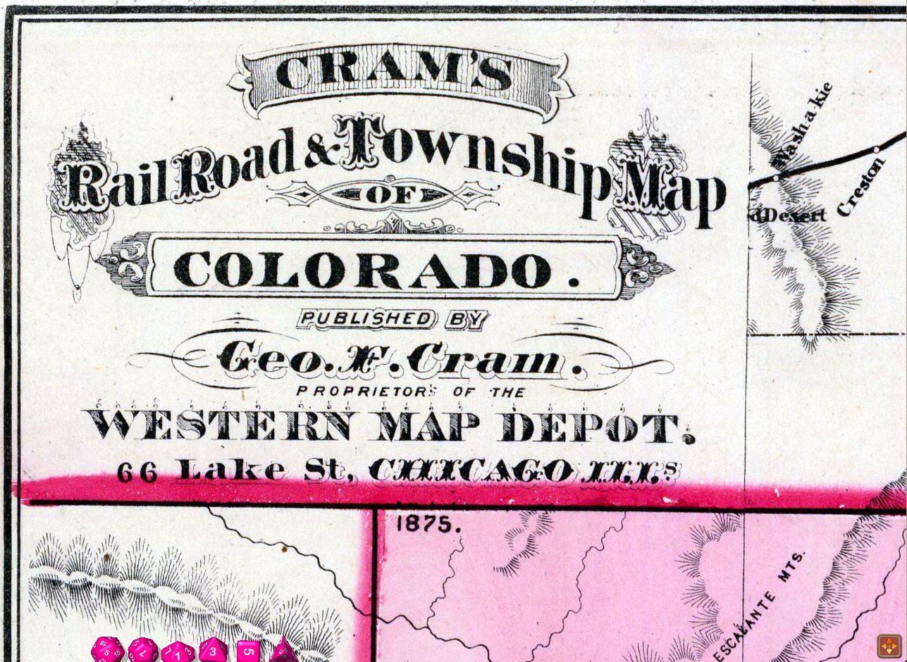 Detail example: Cram's name plate for Colorado